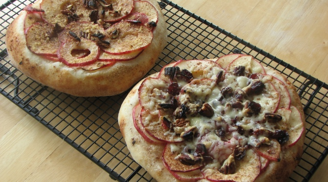 Apple Pecan Pizzas