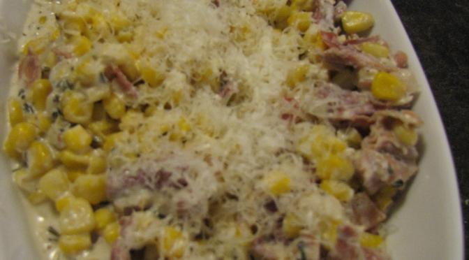 Prosciutto Creamed Corn