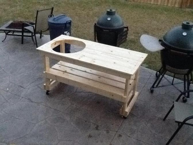 How to build a table for a Large Big Green Egg