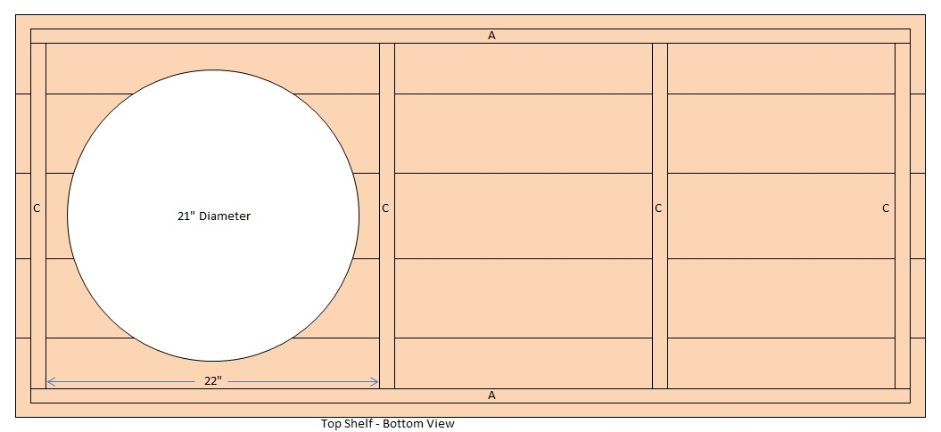 big green egg table dimensions