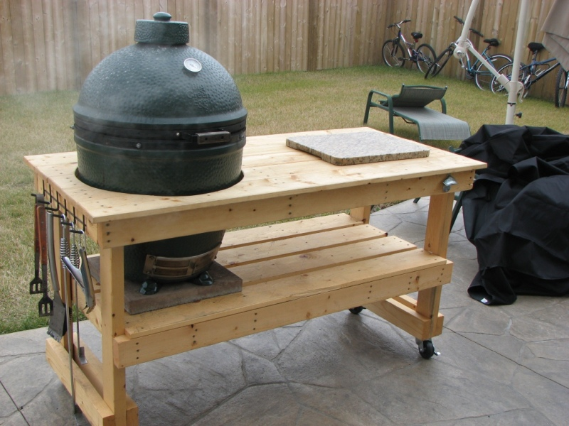 table plans for xl big green egg