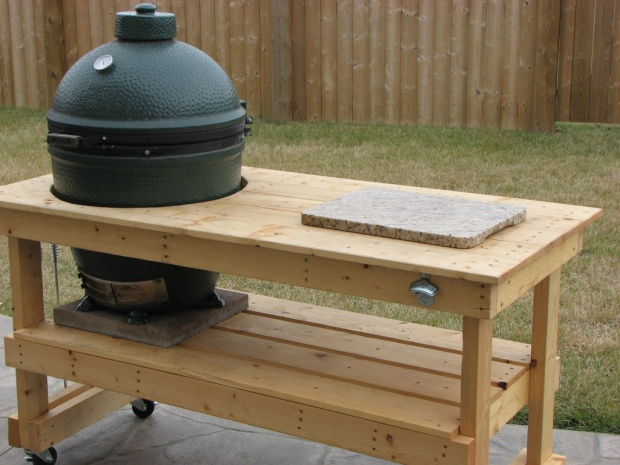 Build Big Green Egg Table Plans Diy King Size Wall Bed