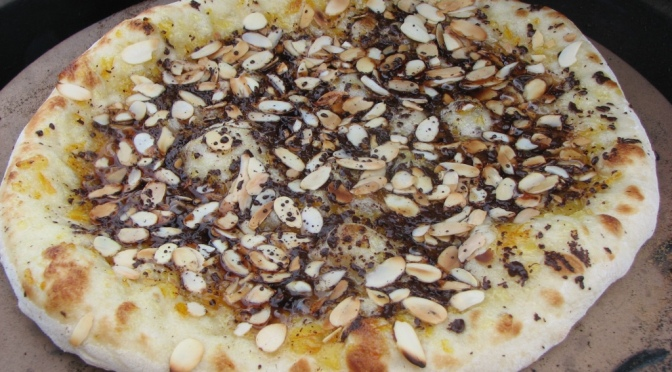 Orange Chocolate Almond Pizza