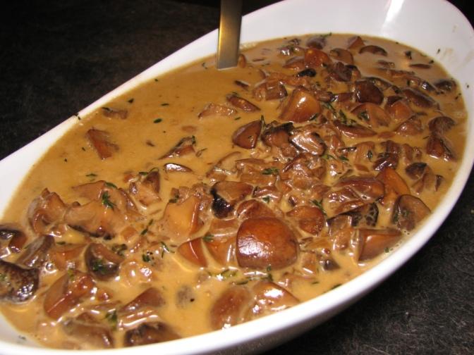 Marsala Creamed Mushrooms