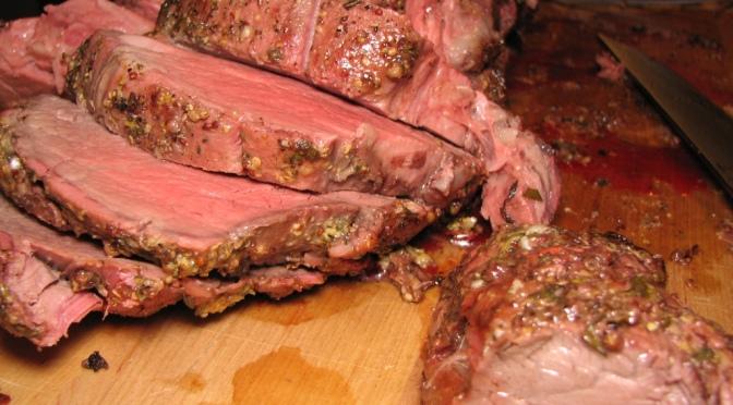 Roasted Dijon Whole Beef Tenderloin